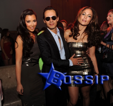Kim Kardashian, Marc Anthony, Jennifer Lopez